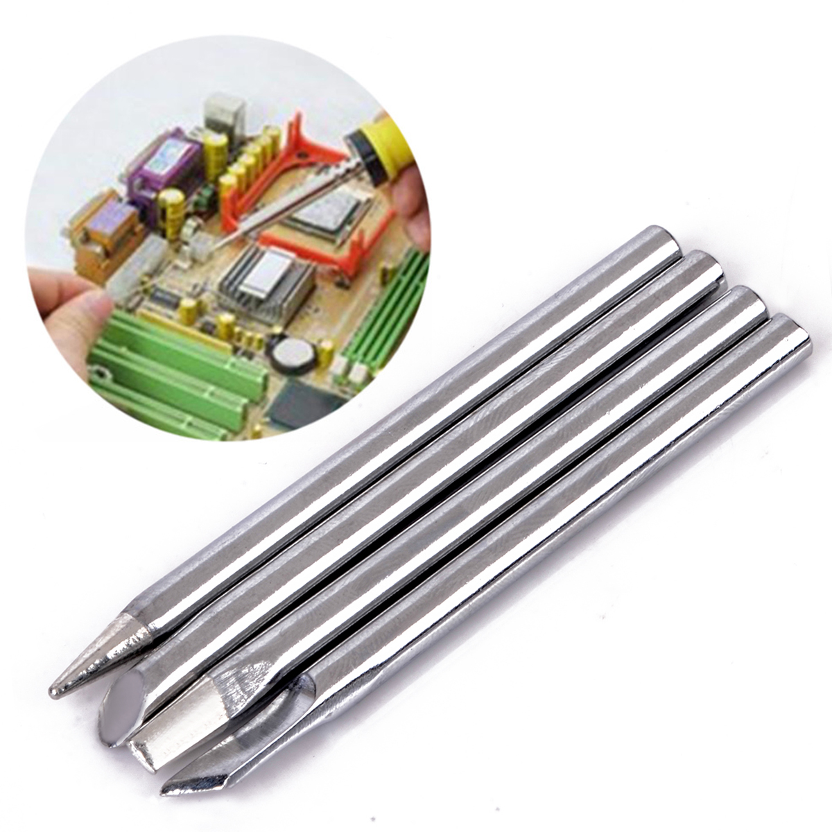4pcs//lot Soldering Iron Tips 40W Welding Tip For Soldering Repair Station 4mm x 65mm