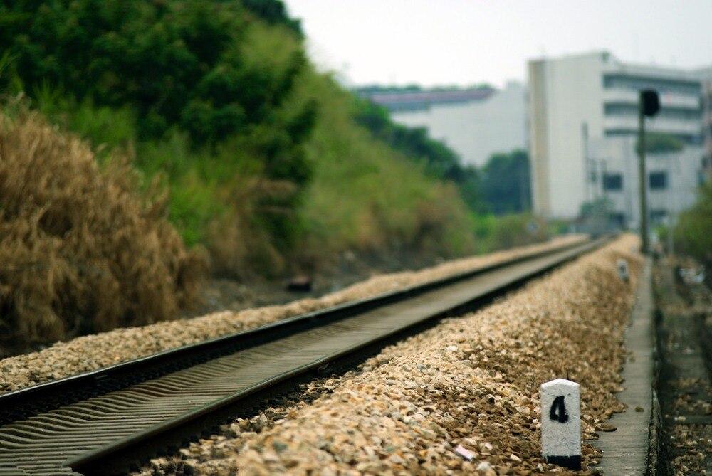 7x5ft Vinyl Custom Railway Theme Photography Backdrops Prop Photo Studio Background NTG-177