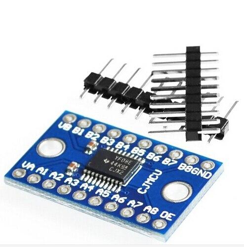 TXS0108E high speed full duplex 8 channel level conversion module 8 bit bidirectional voltage converter For arduino