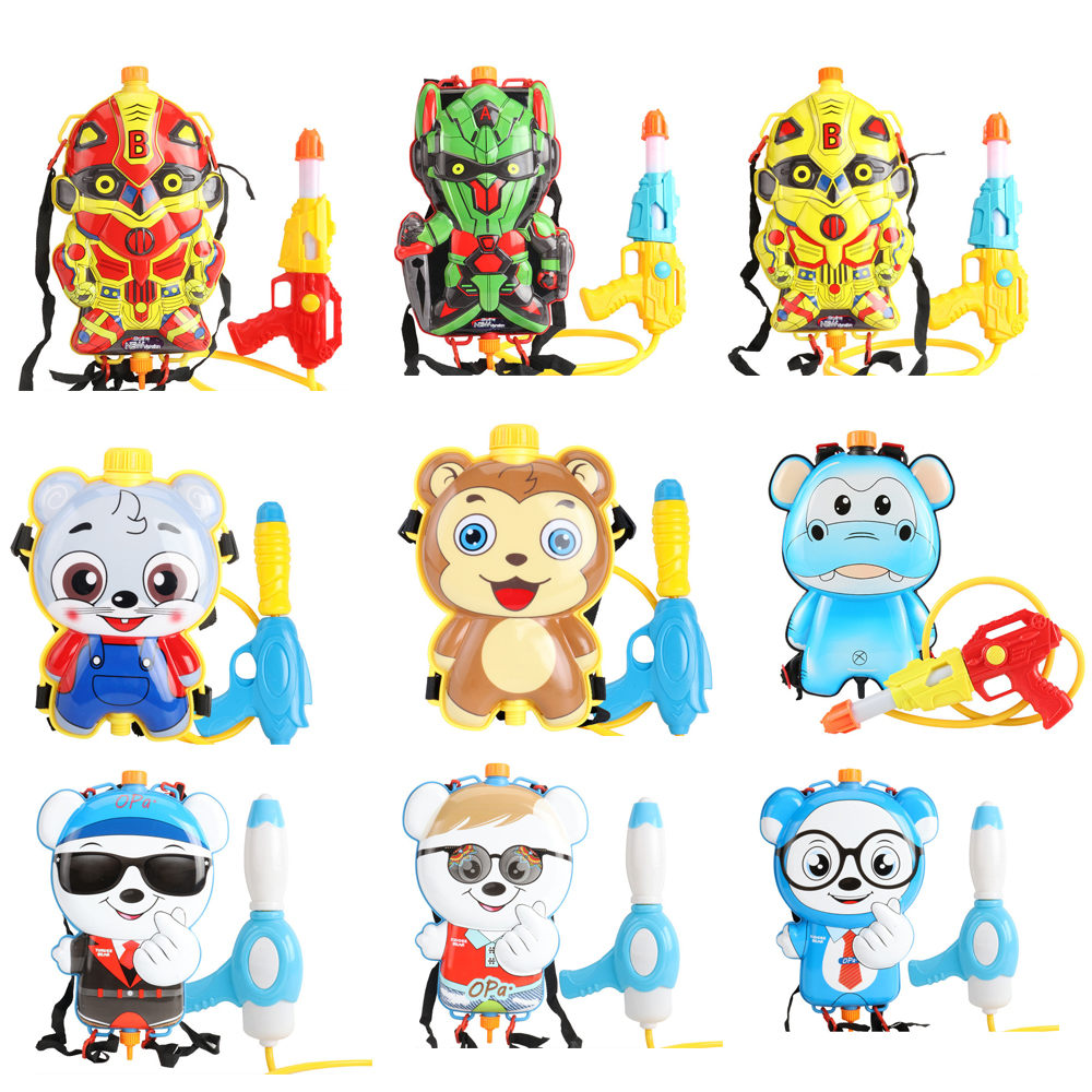 Various Styles Of Children's Cute Firefighter Backpacks Water Guns Beach Outdoor Toys Airbrush Summer Toys
