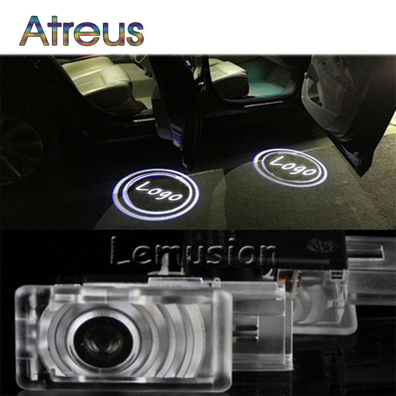 Atreus 2X LED Courtesy Lamp Car Door Welcome Light 12V Projector For Cadillac SRX XTS 2011-2013 Buick LaCrosse 2012 Accessories