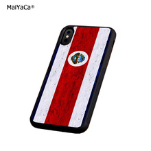flag costa rica soft silicone edge phone cases for apple iPhone x 5s SE 6 6s plus 7 7plus 8 8plus XR XS MAX  cover case