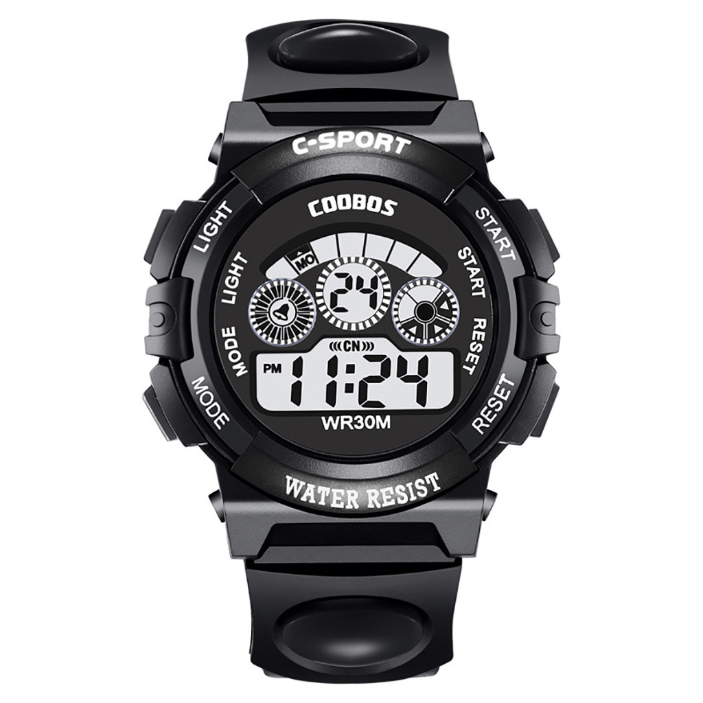 Children Watch Camouflage Sports Multi Functional Fashion UNo Waterproof Digital Scale Men's Electronic Watch C0605