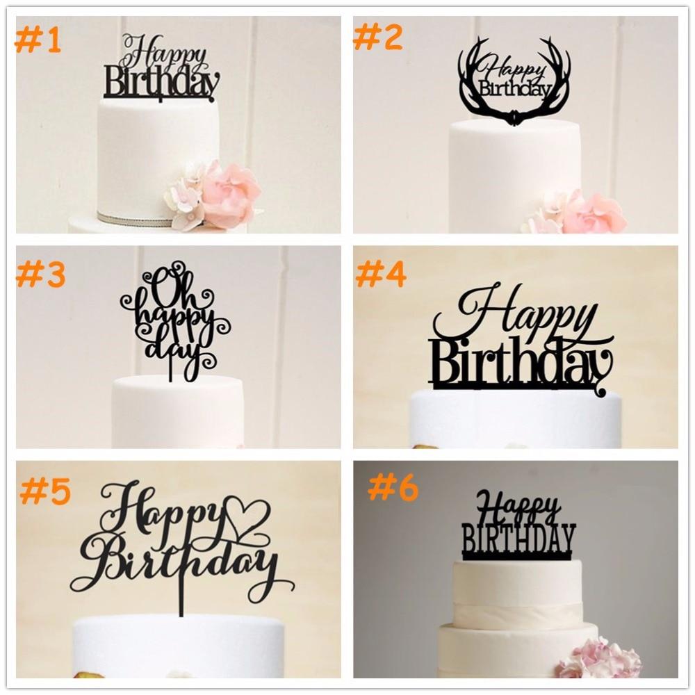 ③El envío Libre de Acrílico de la Torta de Cumpleaños Feliz ...