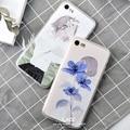 Moda flor menina dos desenhos animados caso para caso iphone 7 for iphone7 6 6 S Plus Tampa Traseira Casos de Telefone Bonito Floral Bonito Coque Capa