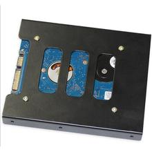 "[] чехол для жесткого диска 2,"" до 3,5"" SSD HDD металлический адаптер Монтажный держатель для жесткого диска для ПК ноутбука защитный кронштейн для жесткого диска"
