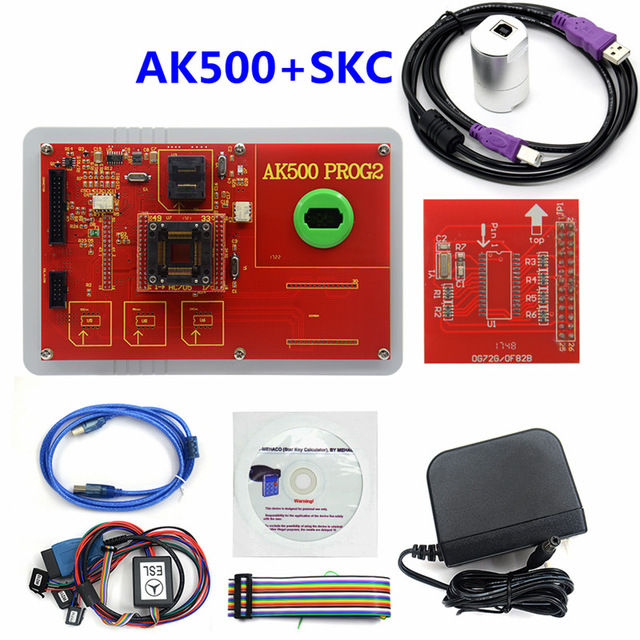 Image 2 - Новейший AK500 + AK500 ключевой программист с EIS SKC Калькулятор AK500 Pro для M ercedes AK500 ключевой программист-in Программаторы с автоповтором from Автомобили и мотоциклы on