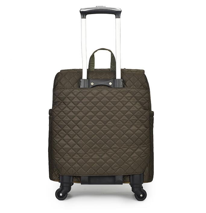 Brand Women Wheeled Luggage bag Cabin travel Trolley Bags on wheels rolling luggage  bag for woman ... c87c19ad72