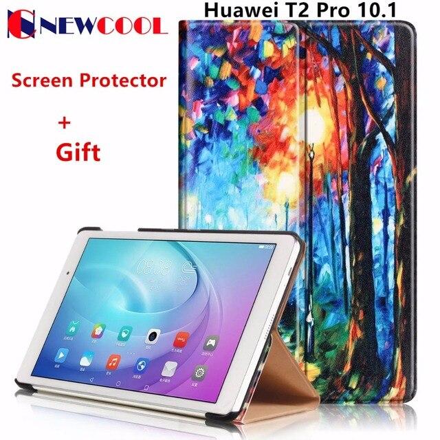 Unique flip cubierta para huawei mediapad m2 lite/t2 pro 10.1 fdr-a01w fdr-a03l tablet case colorful pintado leather case