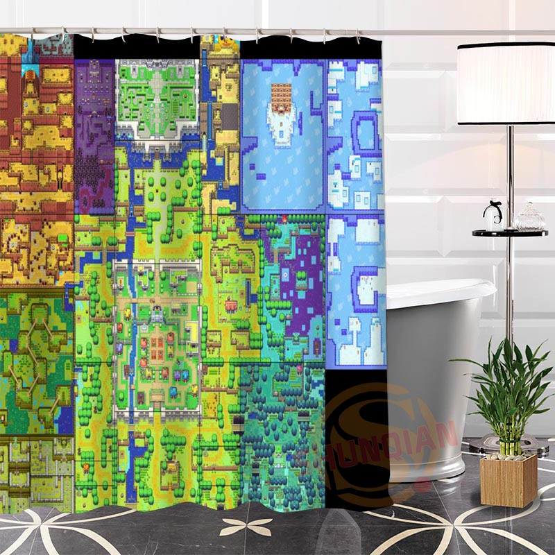 Custom The Legend Of Zelda Map Shower Curtain Waterproof Bathroom Fabric More Size For In Curtains From Home Garden On
