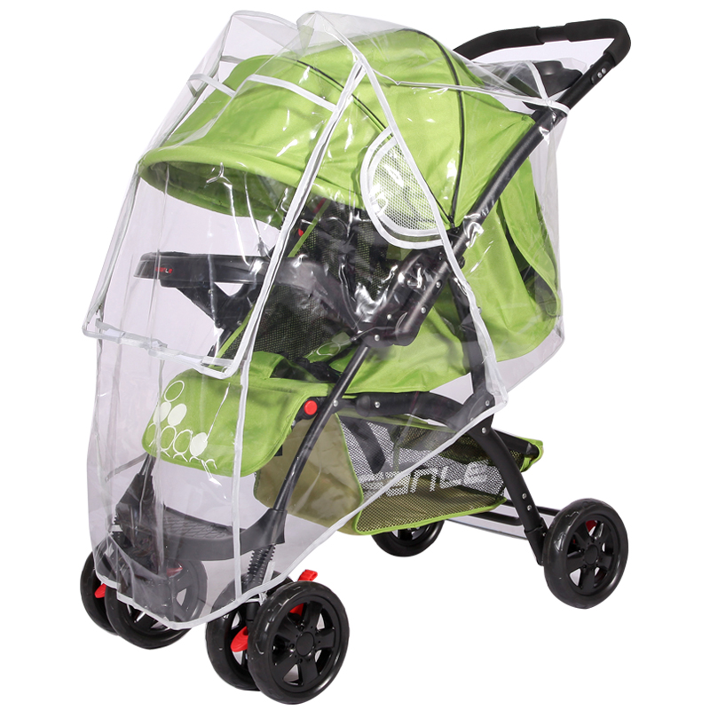 Universal Rain Cover For Stroller Baby Trolley Umbrella Car Dust Cover Waterproof Rain Cover Stroller Windshield Raincover