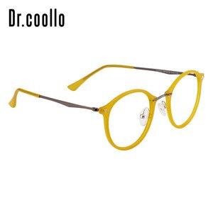 Image 4 - Fashion Designer Ultralight Yellow Round Circle Optical Sunglasses Eye Glasses Frame For Women Men