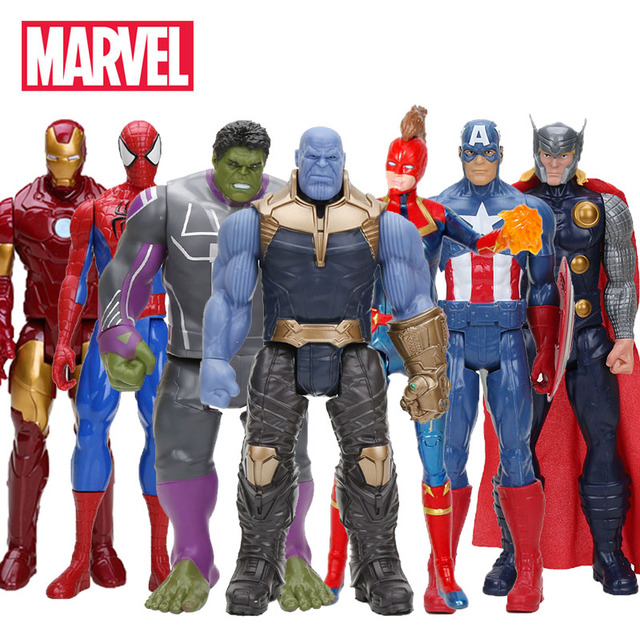 Hasbro Marvel Toys The Avenger Endgame 30CM Super Hero Thor Captain Thanos Wolverine Spider Man Iron Man Action Figure Toys