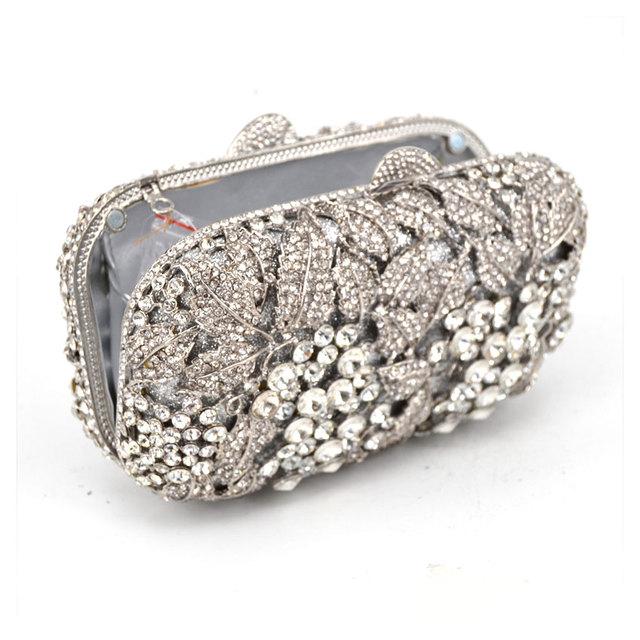 Women's Rhinestone, Crystal, Studded Diamante Evening Bag