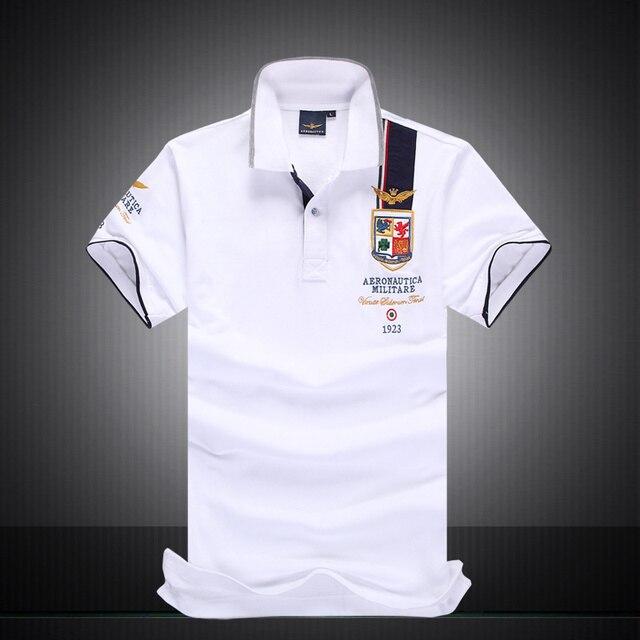 aec7d6da1e Hot venda Nova Chegada Marca Polo Camisa dos homens Aeronautica Militare  Air Force One Polo Ralphly