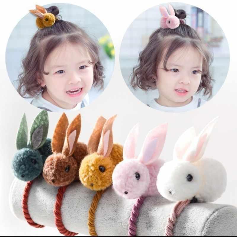 New Kwaii Cute Animals Rabbits Style Hair Bands Felt 3d Plush Rabbit Hair Rubber Band Ears Headband For Girls Women S Hair Accessories Aliexpress