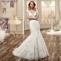 Vestido De Noiva Sereia Sexy Backless Lace Wedding Dress Bead Waist Mermaid Wedding Dresses Robe De