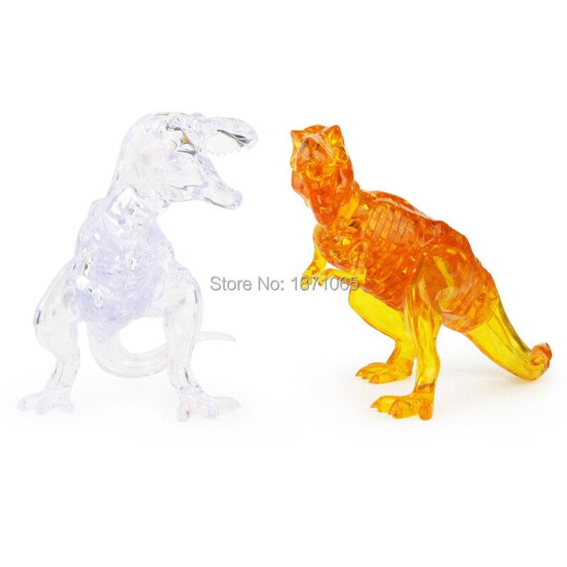 Funny Crystal Dinosaur Educational Leker DIY 3D Puzzle High Quality - Puslespill - Bilde 4