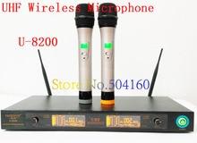 U-8200 UHF Профессиональная Беспроводная Микрофонная Система для караоке главная Бесплатная доставка