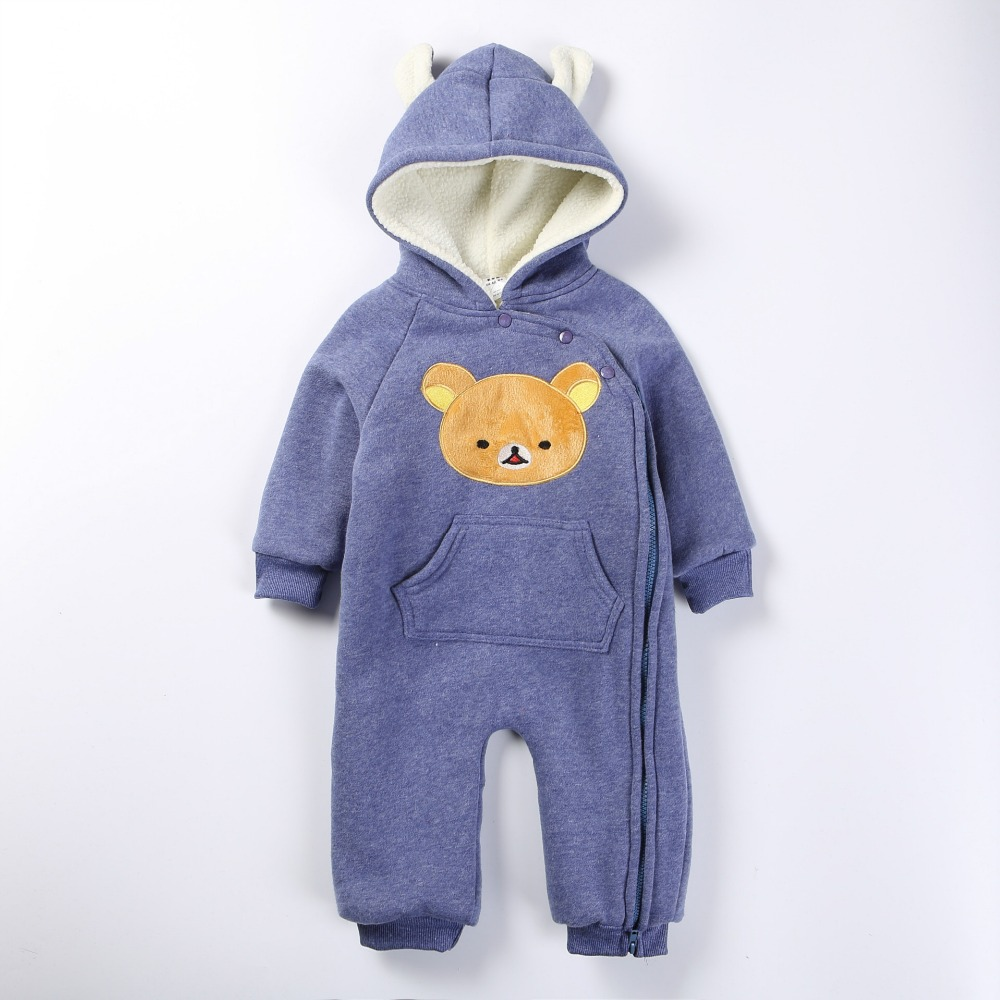 p058 cartoon bear baby romper long sleeve winter overalls for kids fleece jumpsuit newborn baby. Black Bedroom Furniture Sets. Home Design Ideas