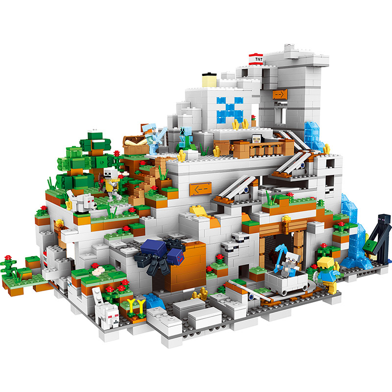 JoyyiforMy World Series Best Educational Building Blocks For Toddlers Iron Golem Clever Toys Compatible LegoINGlys Minecrafter 259pcs new my world building blocks sets mine and workers scene blocks compatible legoinglys minecrafter toys for childrens