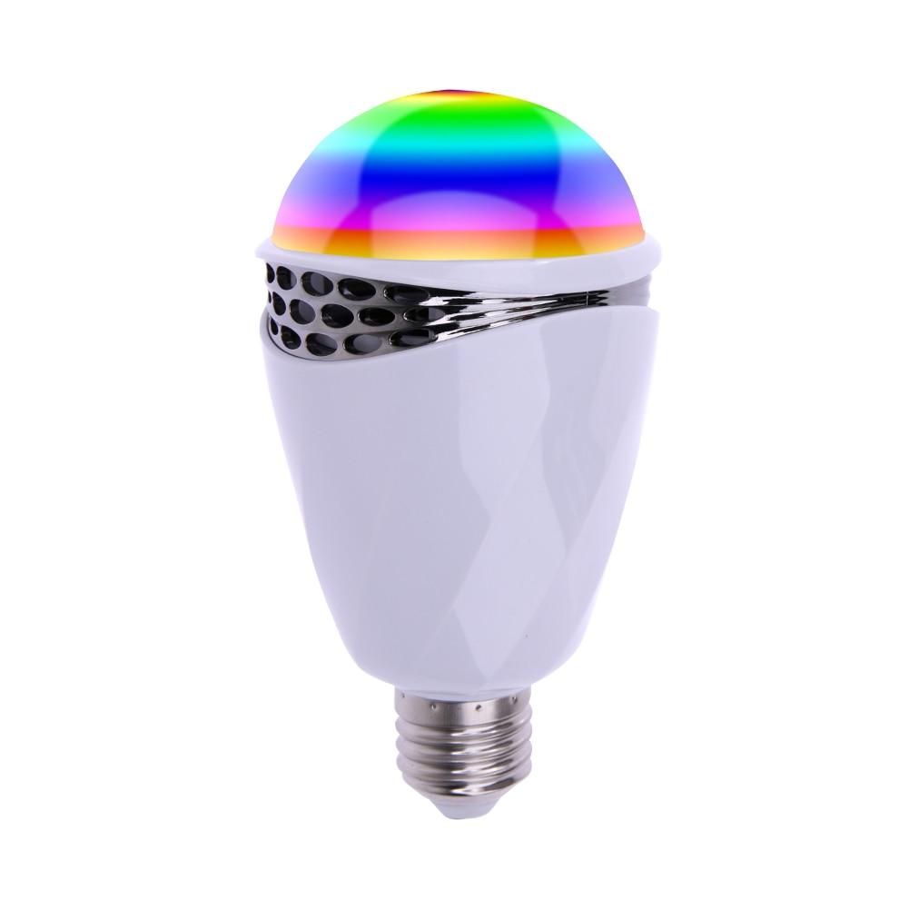120V-240V E27 LED RGB Light Smart LED Bulb APP Control Colorful Light Wireless Bluetooth Speaker Music s15 smart led bulb bluetooth 4 0 speaker app control support