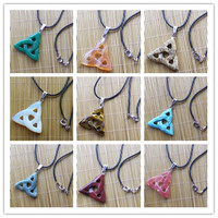Free shipping!!! Beautiful Lovely 9strand Mixed Stone Triangle Necklace 17.5 inch (Min.order 15$ mix)