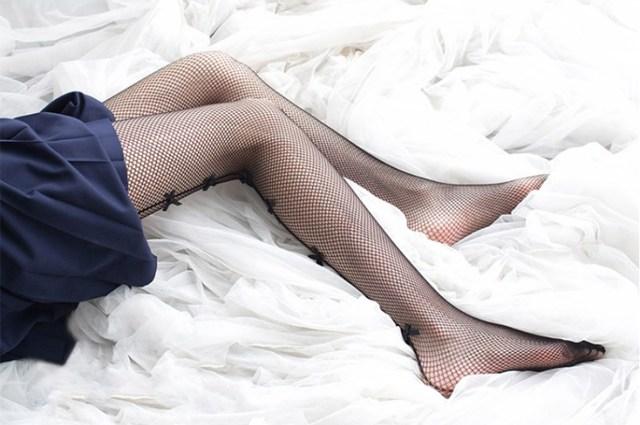 VintageBlack Mesh Fishnet Slim Net Pantyhose 5