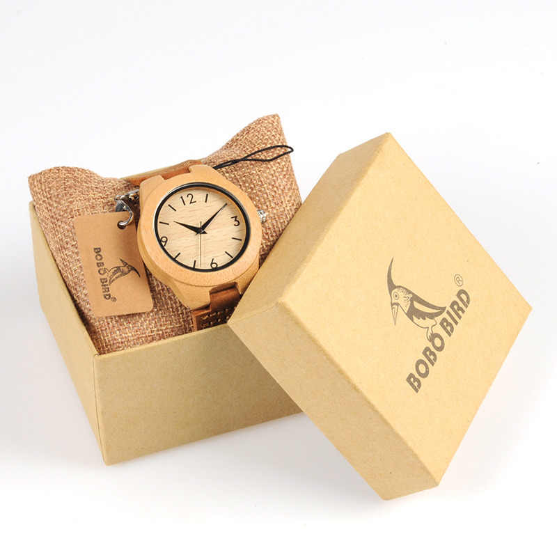 477a789014b TOP Luxury Brand Watch BOBO BIRD Women Wristwatches Handmade Ladies Wood  Watches With Genuine Leather relogio