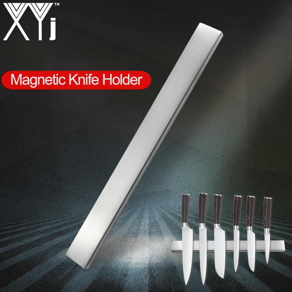XYj Magnetic Knife Holder Wall Mount High Quality Stainless Steel Magnet Knife Holder Use For Stainless Steel Metal Knife