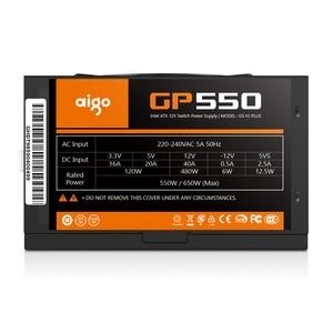 Image 2 - Aigo gp550 מקסימום 750W שולחן העבודה אספקת חשמל PSU PFC שקט מאוורר ATX 24pin 12V 80 בתוספת ברונזה PC מחשב SATA משחקי מחשב אספקת חשמל