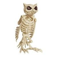 Halloween Skeleton Owl 100% Plastic Animal Skeleton Bones for Scary Halloween Decoration Haunted Halloween Props