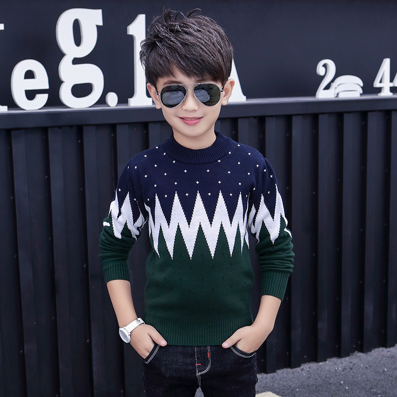 Winter Cotton products  Boys clothing O-Neck pullover Sweater winter Keep warm Kids clothes children's clothing 3