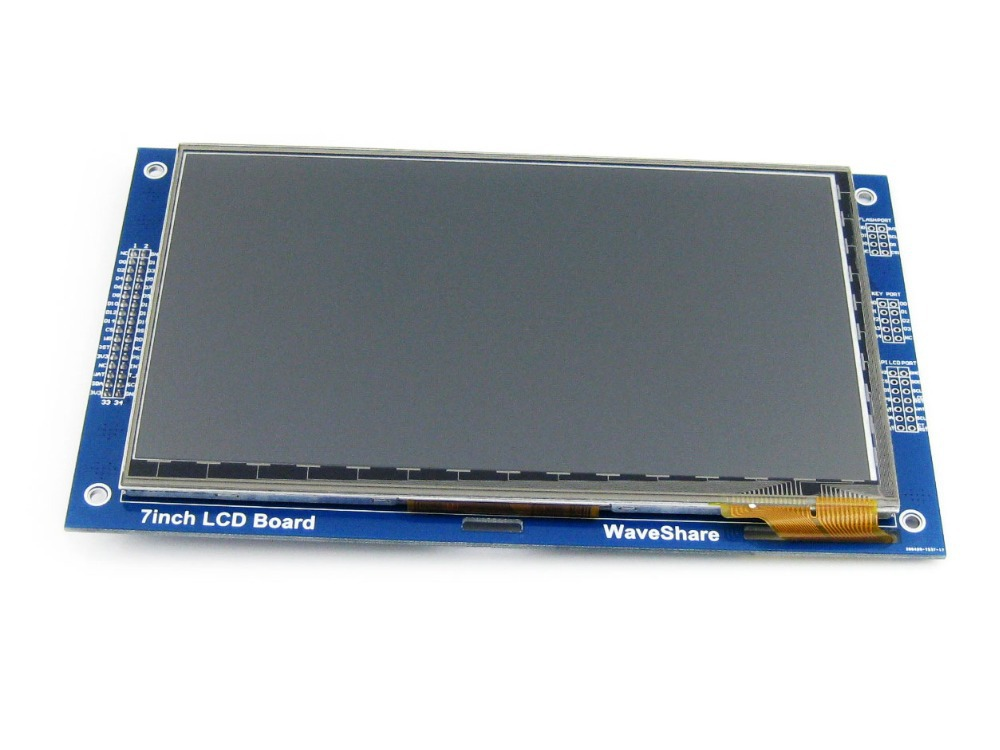 цена на Waveshare 7inch Capacitive Touch LCD (C) 800*480 Multicolor Graphic LCD I2C Touch Panel Display Interface TFT LCD screen