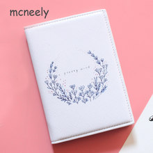 Mcneely Hot Women Leather Passport Cover Wallet Ladies Travel Passport Holder Bag Business Card Holder Purse Retro Card Case Hot(China)