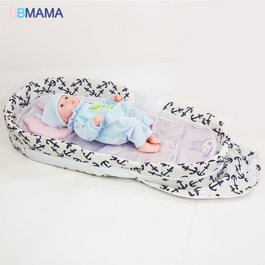 High-quality Portable Newborn Baby Product Baby Bed Folding Bed Thickening Baby Cradle Folding Portable Crib Travel Baby Bag