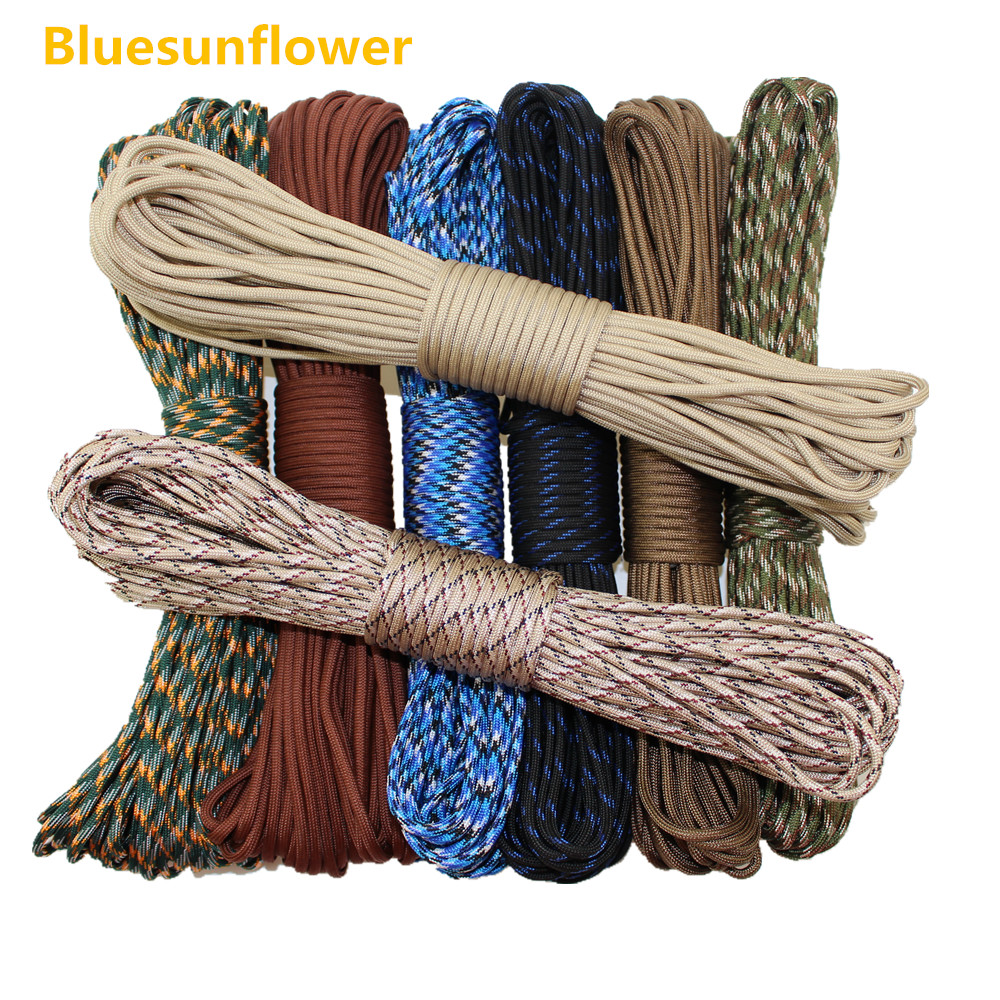 10PC Paracord 550 Parachute Rope 7 Core Strand 100FT paracord For Climbing Camping survival equipment 3mm 7 7 stainless steel 316 wire rope 7x7 strand core seaworthy marine grade