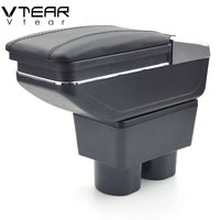 Vtear For Nissan Tiida armrest box center Storage box with cup holder ashtray interior accessories parts decoration 2005 2014