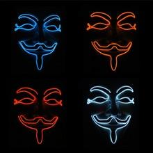 1 шт Вечерние маски V для вендетты светодиодный светильник маска анонима Гая Фокса маскарадный аксессуар для костюма для взрослых косплей маски для вечеринки, W