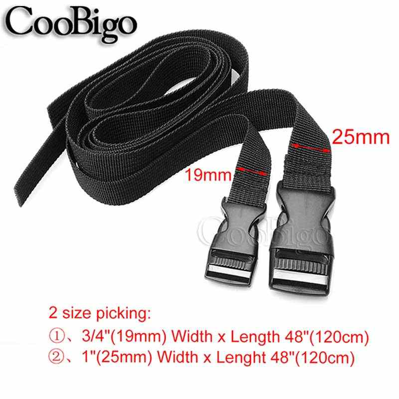 1pcs Outdoor Camping Mattress Sleeping Bag Tent Strap Tactical Backpack Belt Adjustable Buckle Tied Band Travel Accessories