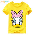 Jiuhehall Baby New Cartoon Duck Print Clothes Boy Girls T-shirt Kids Short Sleeve Tee Tops Children Cotton T Shirt ACM068