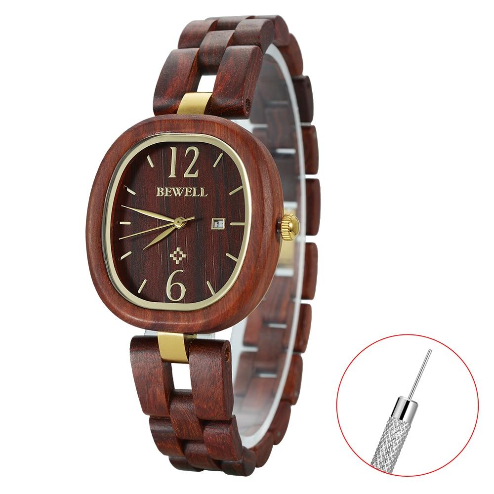NEW Of BEWELL Wooden wristwatches watch women waterproof quartz elegeant watches wood 162A