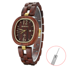 купить NEW Of BEWELL Wooden wristwatches watch women waterproof quartz elegeant women watches wood watch 162A по цене 1854.29 рублей