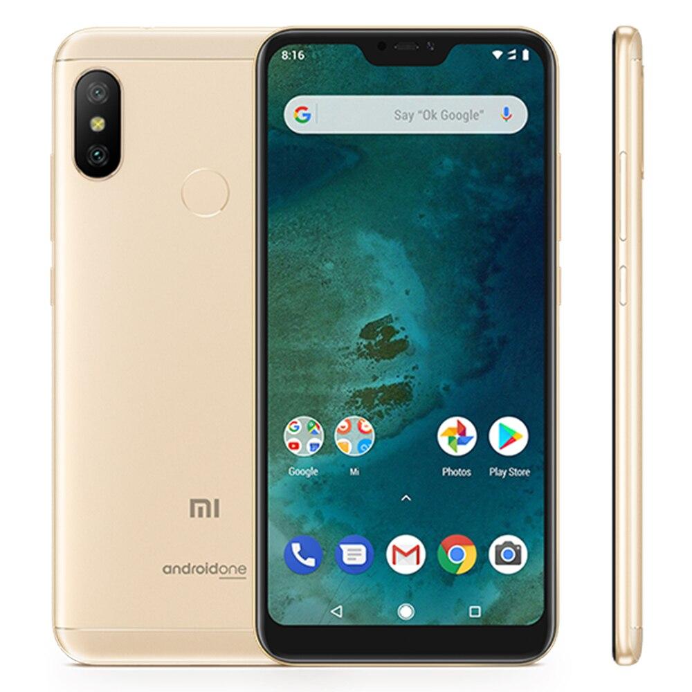 Глобальная версия Xiaomi A2 Lite 4 ГБ 64 ГБ мобильного телефона Восьмиядерный процессор Snapdragon 625 5,84 FHD + 19:9 полный Экран 4000 мАч LTE смартфон