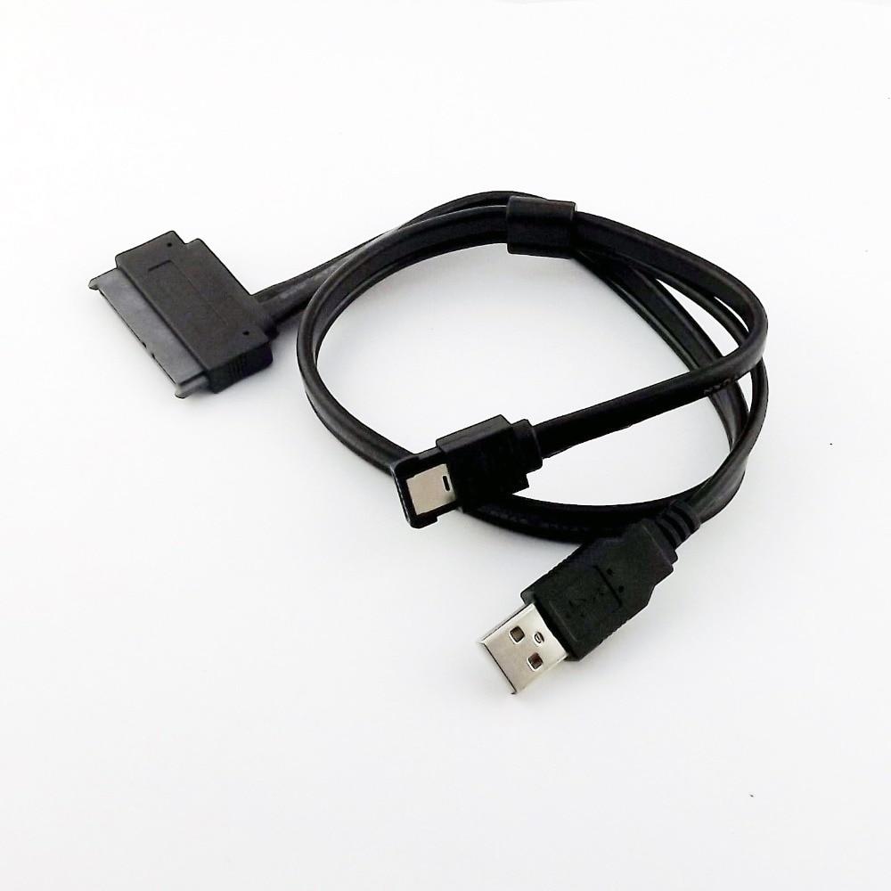 10 pièces SATA 7 + 15 broches 22 broches femelle à eSATA 7 P avec USB 2.0 A mâle alimentation Y séparateur connecteur câble cordon 50 cm