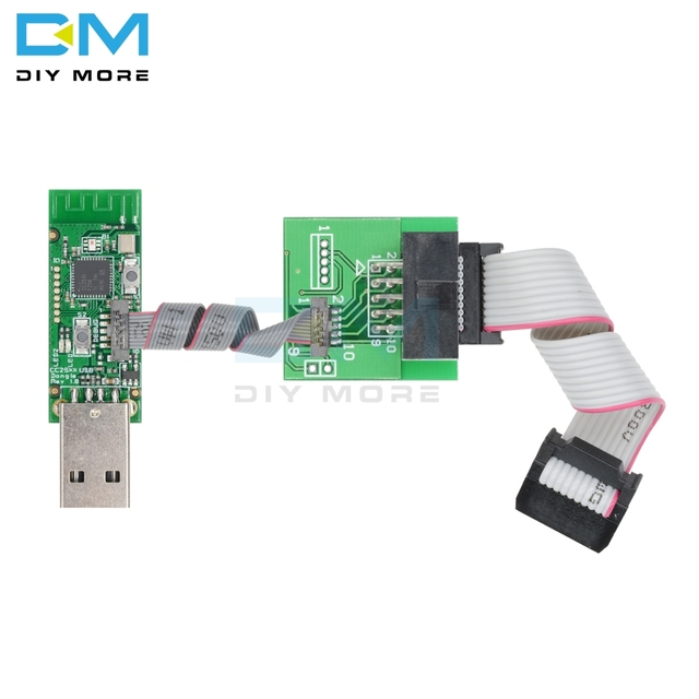 CC2531 Zigbee CC2540 Sniffer Bare Board Wireless Bluetooth 4.0 Dongle Capture Module USB Programmer Downloader Cable Connector