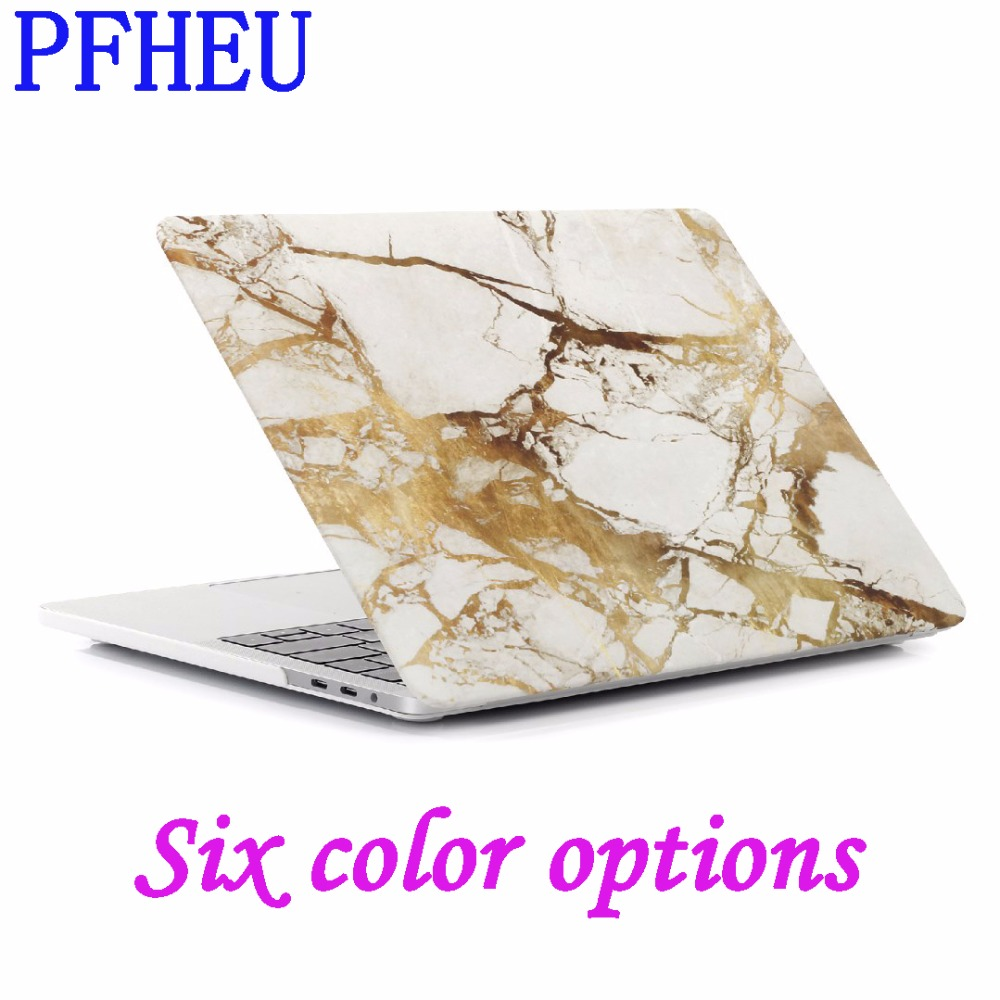 PFHEU New For Macbook Air Pro Retina 11 12 13 15 Laptop Case Marble Stone PC For Mac book Air 13.3 inch Case New Pro 15 Cover bta protective pc case for 15 inch macbook pro with retina display red black
