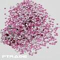 Frete Grátis!! 5000 pçs/saco Light Rose Cor 3D Arte Do Prego Cristais Pedrinhas Flatback DIY Não-Strass hotfix