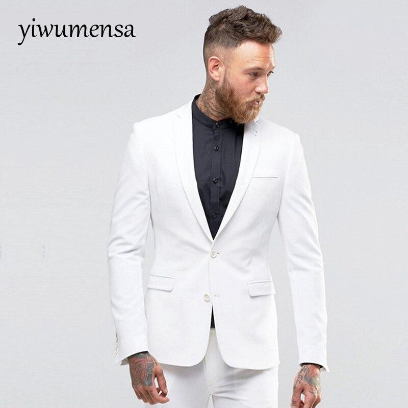 new product 00ca9 1fc57 US $79.75 45% di SCONTO|Yiwumensa vestido de novio para boda vestito Degli  Uomini abito uomo cerimonia beige abiti da uomo 2017 terno masculino Abiti  ...
