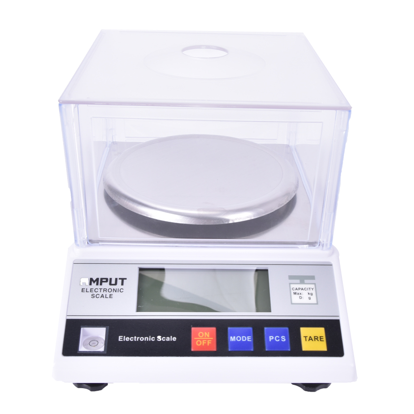 1pcs Precision Laboratory analytical balance 2000g x 0.01g Jewelry diamond gold weighing bench kitchen scale 7.5V 200MA